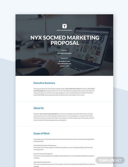 Social Media Marketing Proposal Template