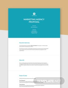 Marketing Agency Proposal Template