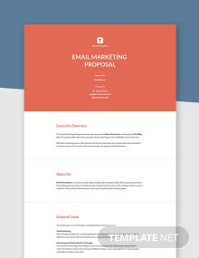Email Marketing Proposal Template
