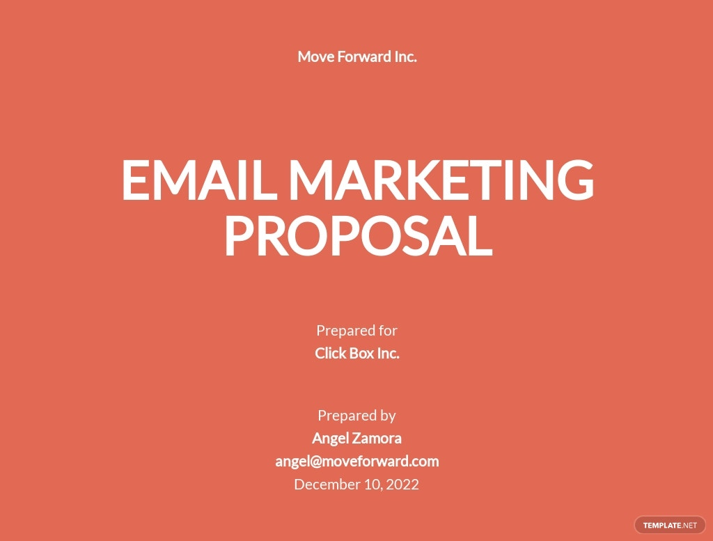 Email Marketing Proposal Template .jpe