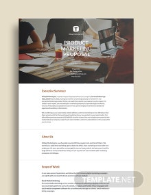 Product Marketing Proposal Template