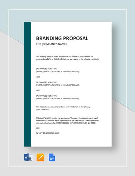 Branding Proposal Template