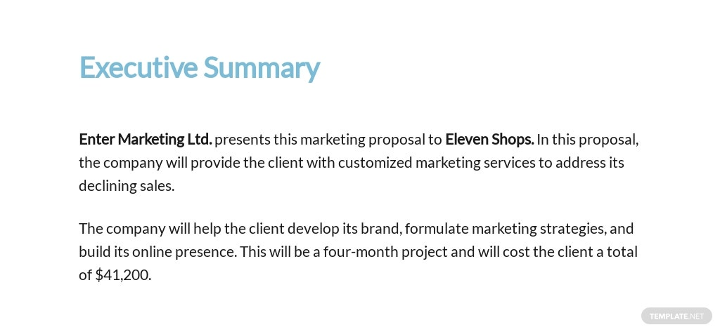 Marketing Proposal Template [Free PDF] - Google Docs, Word, Apple Pages, PDF