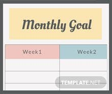 Free Monthly Goal Planner Template