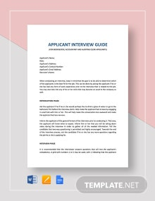 Interview Guide Bookkeeping Accounting and Auditing Clerk Template