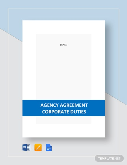 Agency Agreement Corporate Duties Template