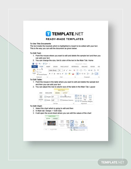 Expense Statement Instructions
