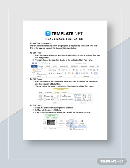 Expense Statement Monthly  Quarterly  Yearly Instructions