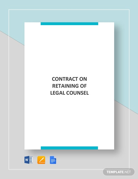 Contract on Retaining Legal Counsel Template