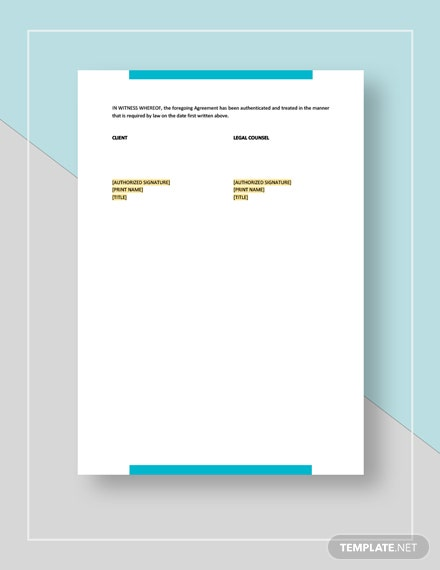 Contract on Retaining Legal Counsel Download