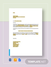 Letter of Agreement Master Professional Services Agreement Template
