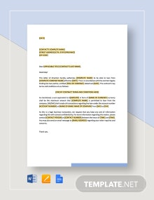 Letter of Direction Payment of Acquisition Price Template