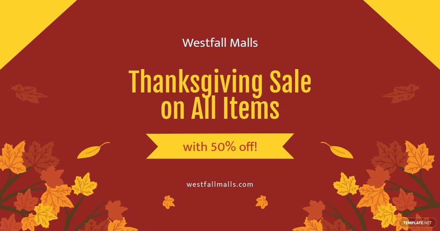 Thanksgiving Sale Facebook Post Template.jpe