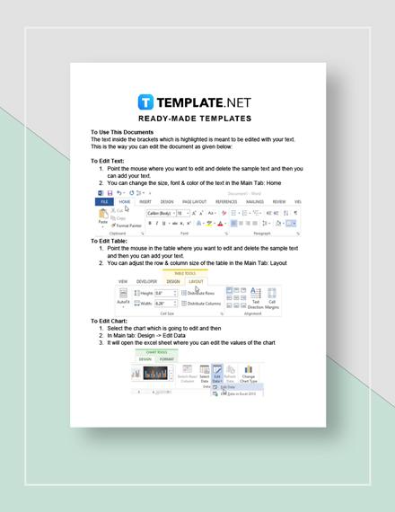 Checklist Key Record Keeping Instructions