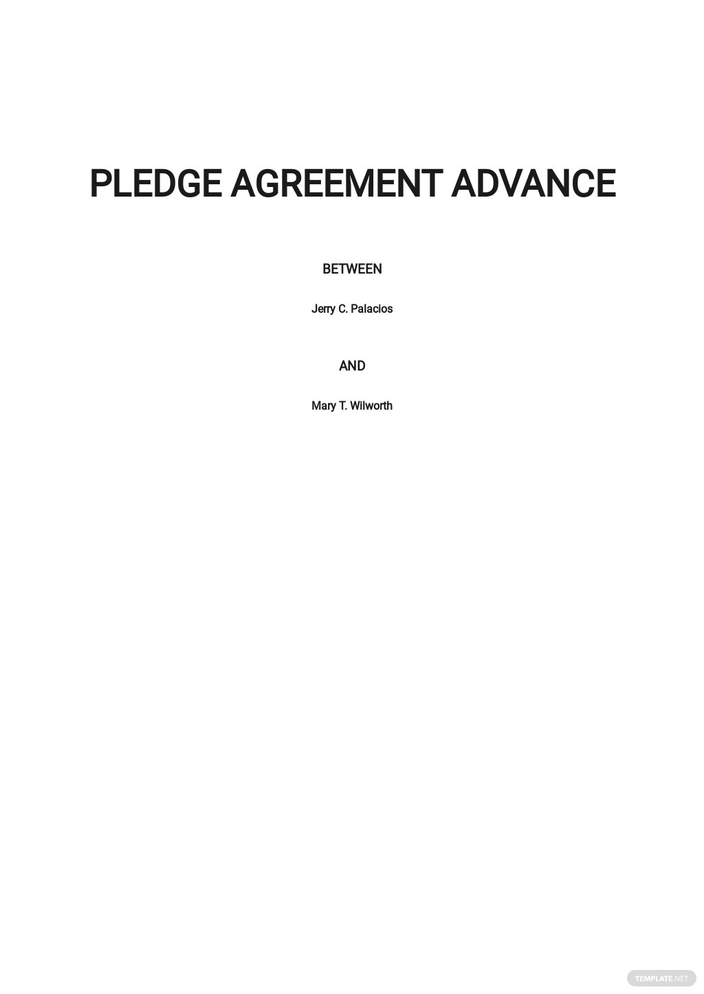 Pledge Agreement Advance Template.jpe