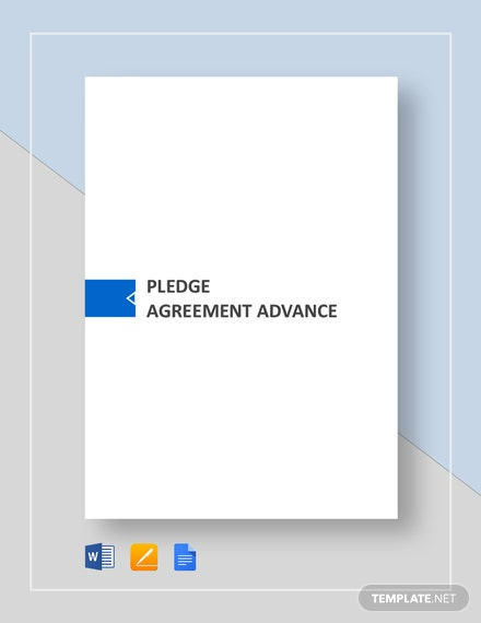 Pledge Agreement Advance Template