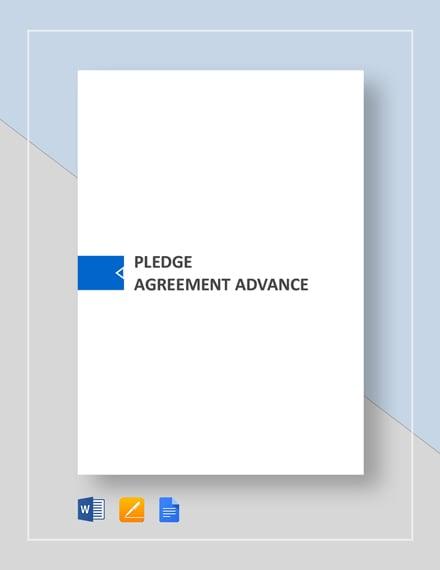 Pledge Agreement Advance Template