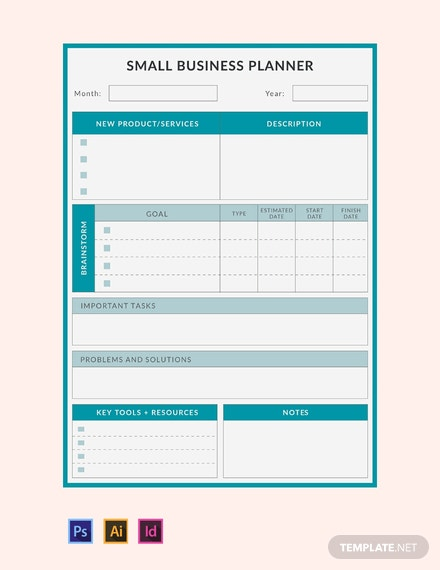 Free Small Business Planner Template