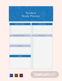 Free Student Study Planner Template