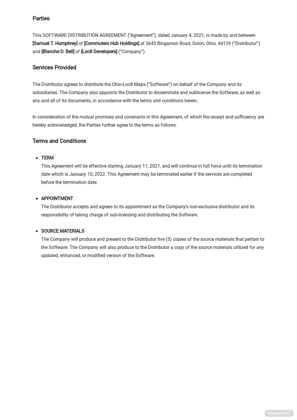 Software Distribution Agreement Long Form Template  1.jpe