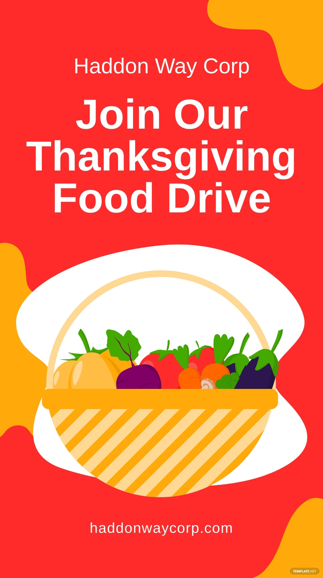 Thanksgiving Food Drive Instagram Story Template.jpe