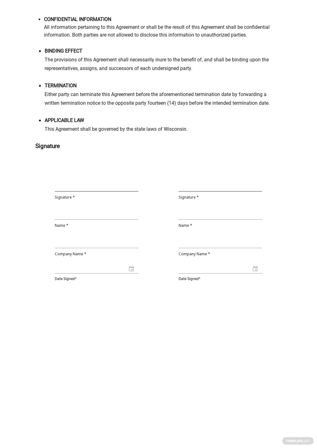 FREE Undertaking of Indemnification Director Template - Google Docs, Word, Apple Pages