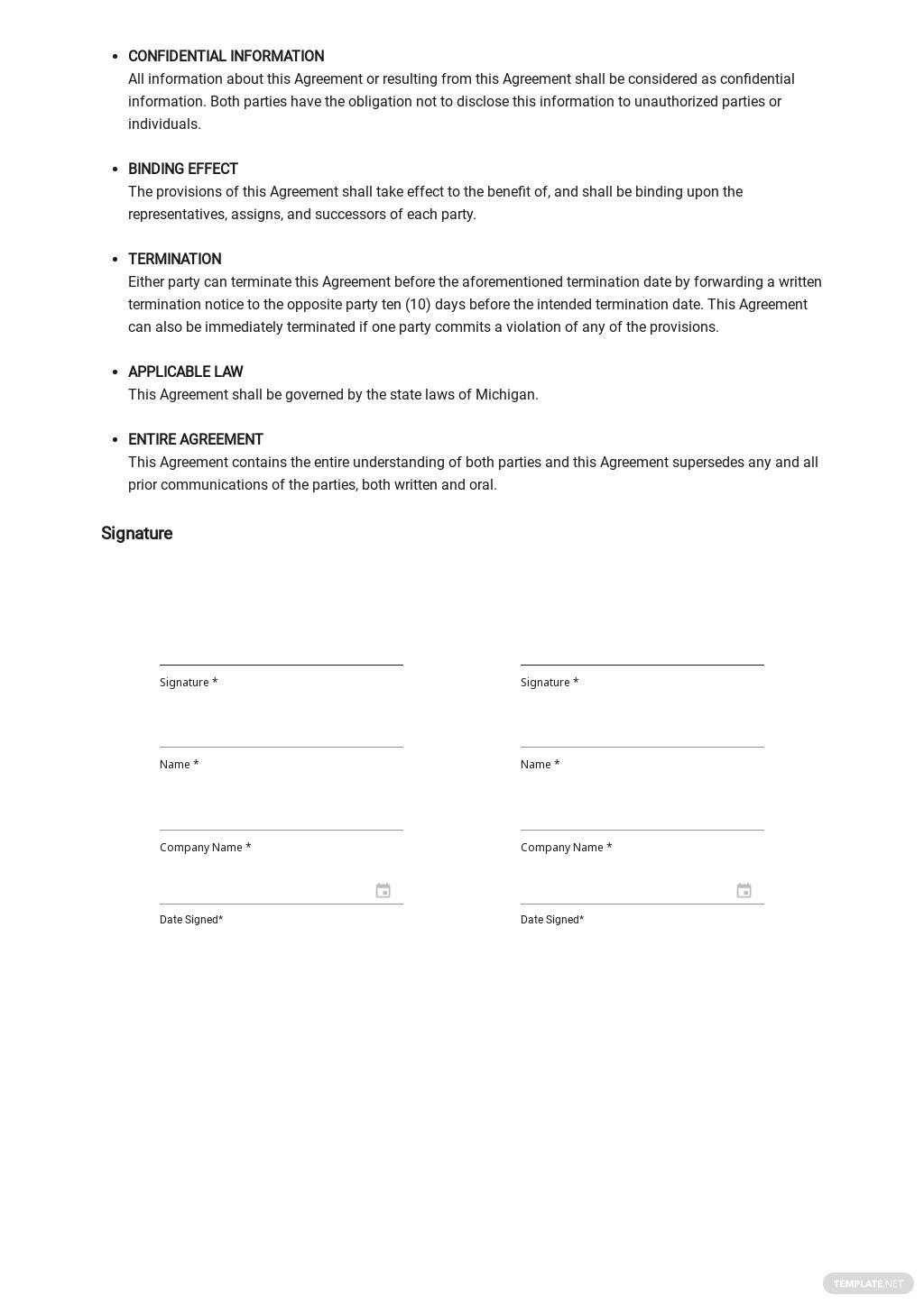 Undertaking of Indemnification Template [Free PDF] - Google Docs, Word, Apple Pages