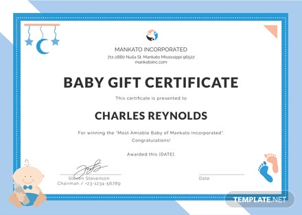 Free Baby Gift Certificate Template Download 200 Certificates In