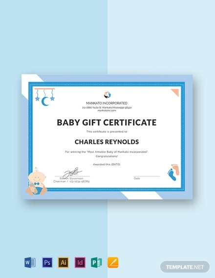 Free Baby Gift Certificate Template