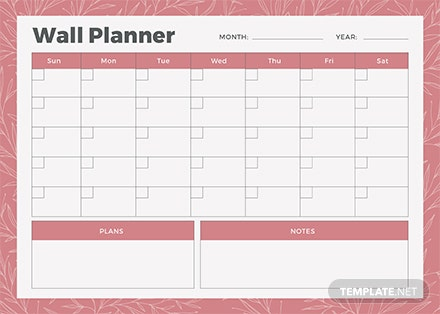Free Wall Planner Template