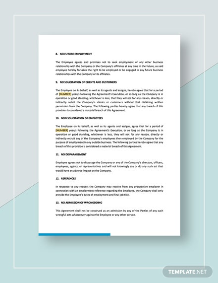 Sample Separation and Release Agreement