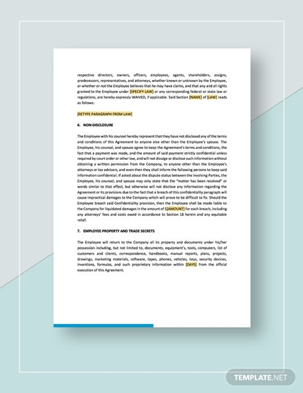 Separation and Release Agreement Download