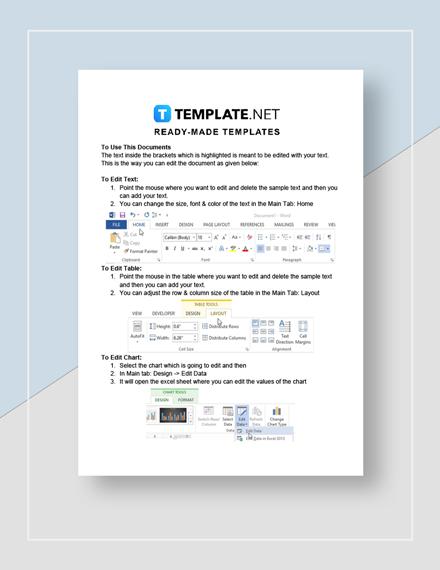 Employee Dismissal Letter Instructions