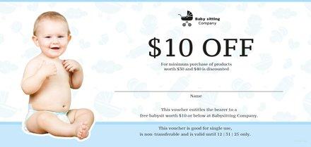 Free Babysitting Gift Voucher Template