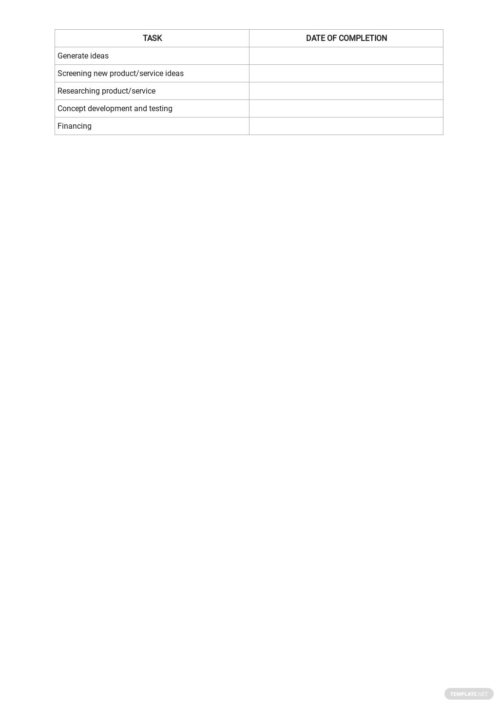 Checklist Developing Services Template