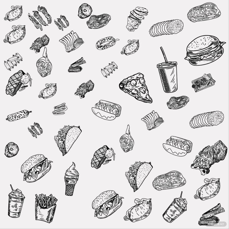 Doodle Food Vector
