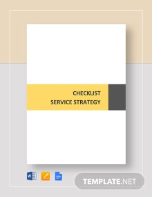 Checklist Service Strategy Template