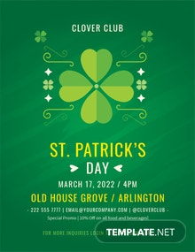 Free St Patrick's Day Celebration Flyer Template