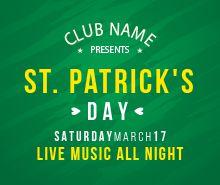 Free St Patrick's Day Celebration Flyer Template