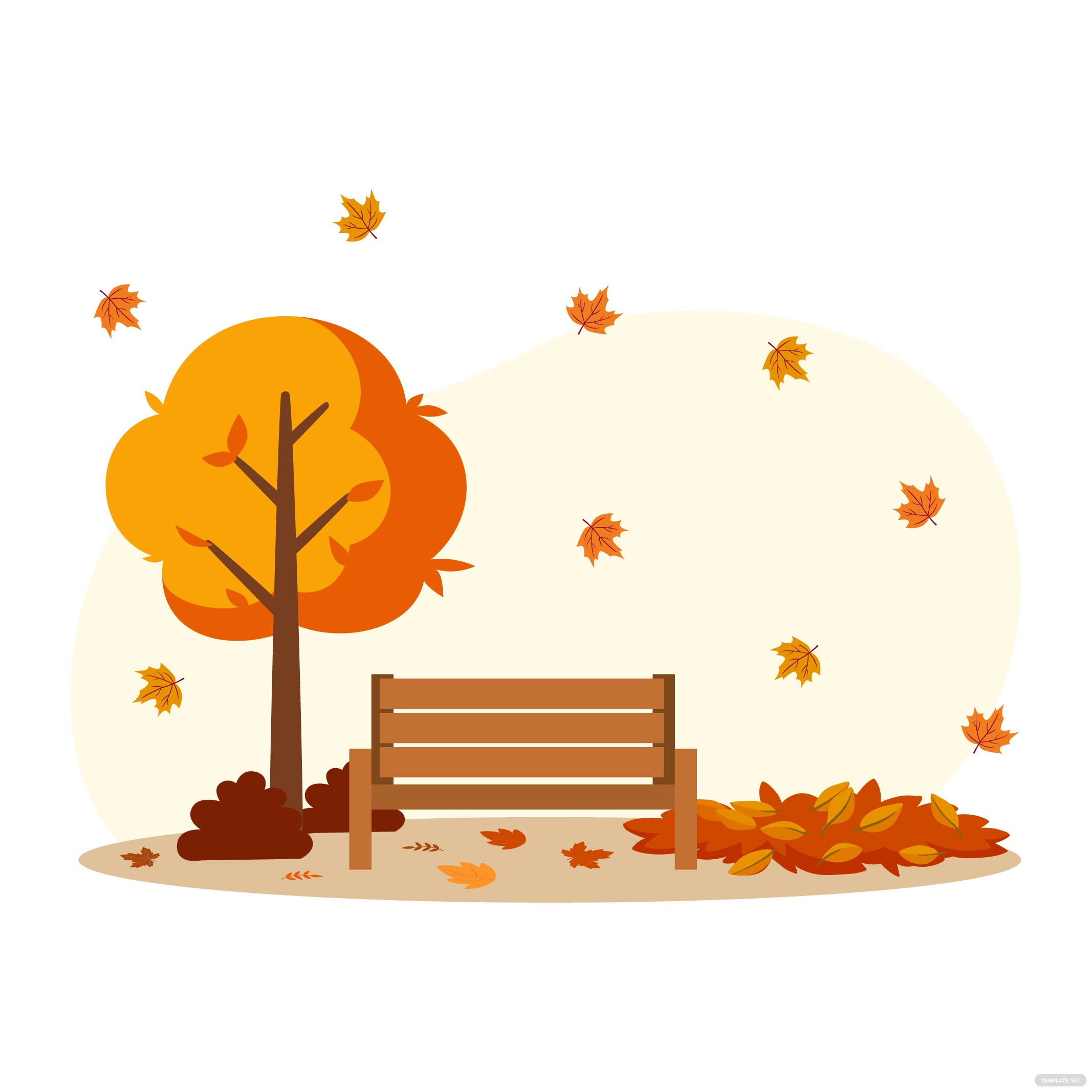 Scattered Leaves Autumn Vector