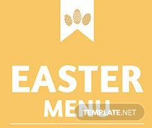 Easter Menu Card Template