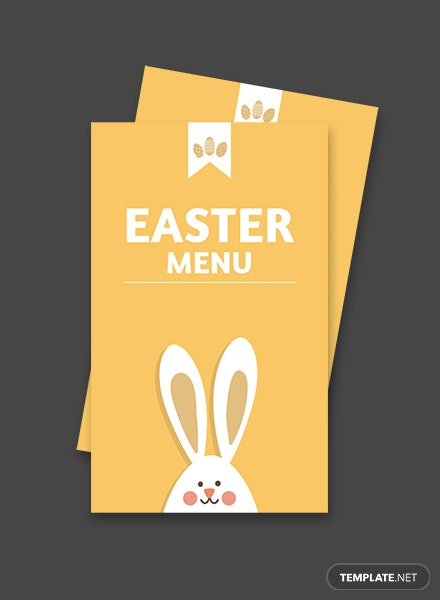 Free Easter Menu Card Template