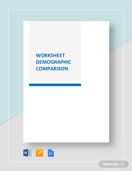 Worksheet Demographic Comparison Template