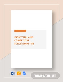 Worksheet Industry & Competitive Forces Analysis Template