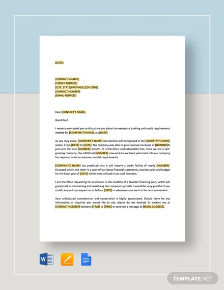 Request Proposal For Credit Facility Template Word