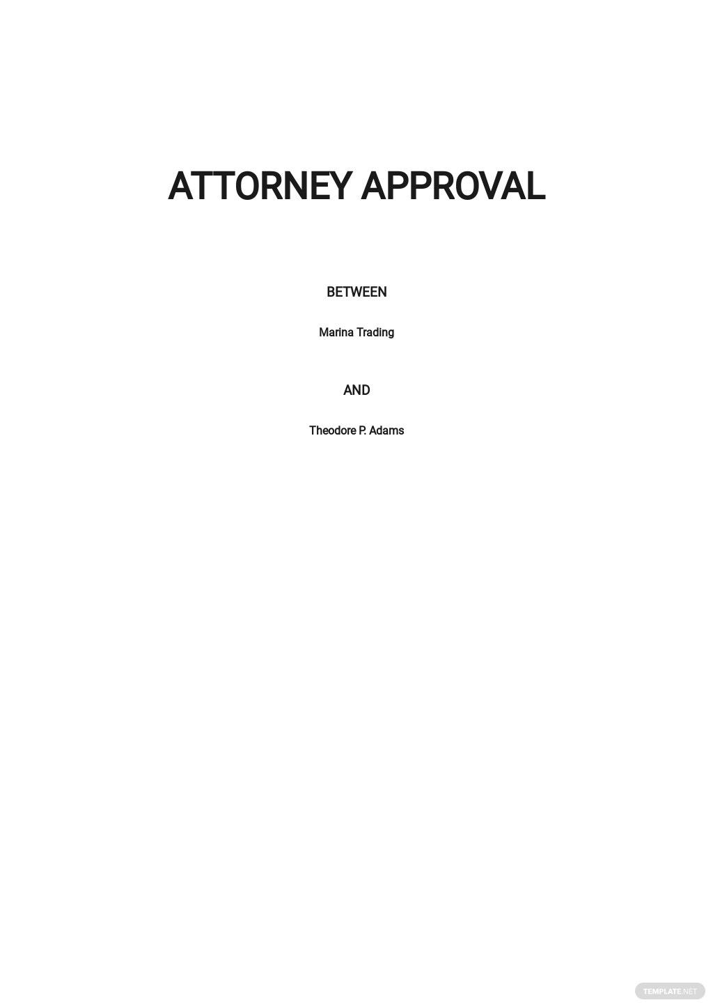 Attorney Approval Template
