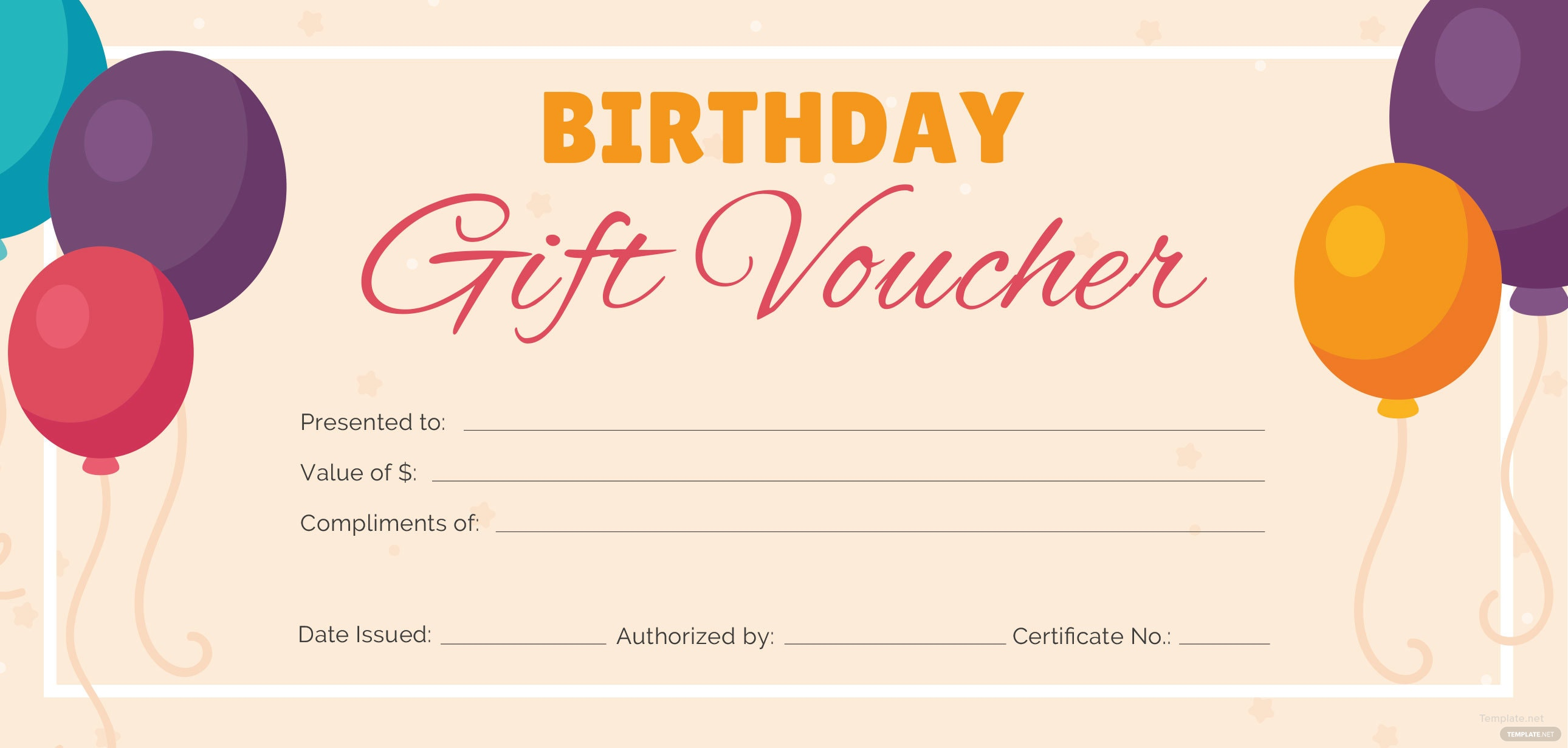 free birthday gift voucher template in adobe photoshop illustrator microsoft word publisher. Black Bedroom Furniture Sets. Home Design Ideas