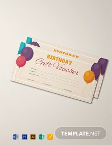 Free Birthday Gift Voucher Template