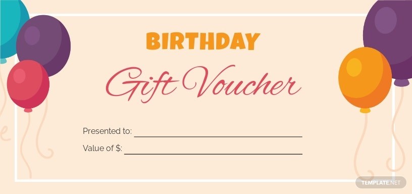 Birthday Gift Voucher Template