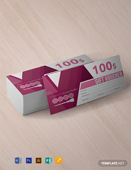 Free Business Gift Voucher Template